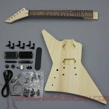 details about bargain ian gk 016l left hand diy unfinished project luthier guitar kit