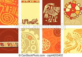 Banner Patterns Unique Set Banner Background Flyer Placard With American Indian