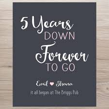 5 Year Anniversary Quotes Simple Anniversary Gift 48 Years Forever To Go Anniversary Gift IT ALL BEGAN
