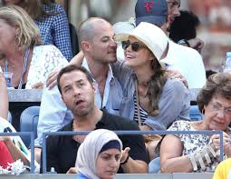 Shane Deary Keri Russell And Shane Deary At The Us Open Keri Russell