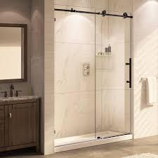 trident mocha 62 x 56 60 sliding oil rubbed bronze shower door valuable glass doors interior