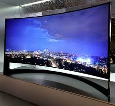 samsung curved tv in living room. so perhaps you can make room in the bedroom for this curvy beauty\u2014the samsung u9b curved tv. | home pinterest tvs, bedrooms and tv living a
