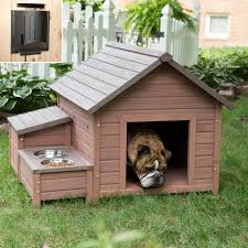 boomer george a frame dog house with food bowl tray and storage cubby hayneedle