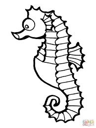 Coloring Pages Seahorse Coloring Pages Free Page Fish