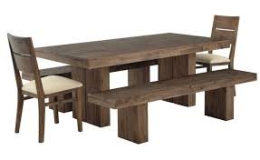 rustic solid wood bench for dining room table and two upholstered chairs great benches for