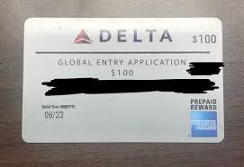 global entry application gift card 100 1 of 1