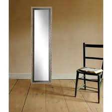 brandtworks noble black and pewter full length framed mirror