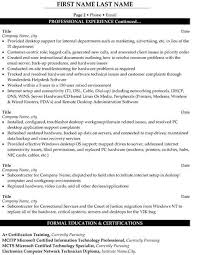 Desktop Support Technician Resume Example Examples Of Resumes