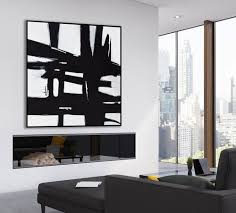 large abstract art painting on canvas black and white wall art large square acrylic painting on canvas minimalist abstract painting bw19 on canvas black and white wall art with modern art home decor