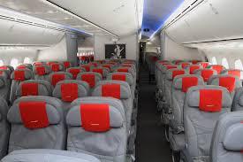 norwegian airlines economy cabin