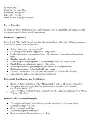 Medical Records Resume Examples Clerk Cover Letter