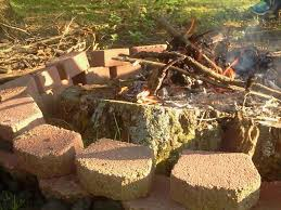 Build A Fire Pit Around An Old Tree Stump And Its A Cool Way To Make It Disappear Over Time Diy Fire Pit Fire Pit Backyard How To Build A Fire