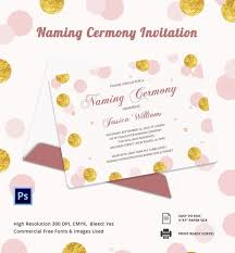 Free Naming Ceremony Invitation Templates Letter
