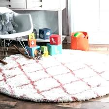 baby pink rug for nursery soft and plush cloudy trellis kids round rugs bedrooms excellent