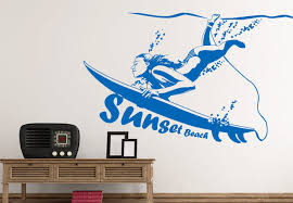 surfing wall art decals