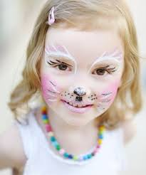 face makeup little kitty glitter