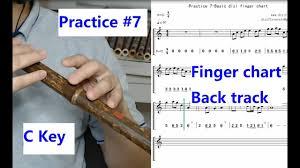 Wooden Flute Finger Chart Beginners Practice Seven Basic Notes For C Key Dizi Finger Chart Staff