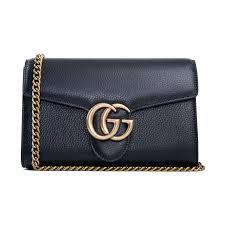 gucci gg marmont leather mini chain bag 401232