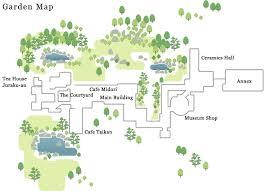 足立美術館庭園マップ