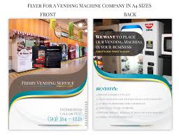 Vending Machine Brochure Awesome Entry 48 By Girraj48 For Design A Flyer For A Vending Machine