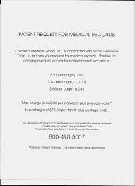 Medical Record Release Letter Letter Format To Request Medical Records New Medical Records Release