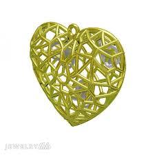 valentine s un caged heart pendant jewelry cad model
