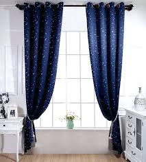 Star Blackout Curtains Blackout Curtains Kid Bedroom Cartoon Star Design  Navy Blue Sky Window Treatments Girl Boy Room Home Stars Black Blackout  Eyelet ...