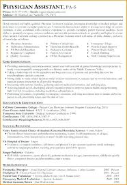 Physician Assistant Resume Template Amazing New Graduate Physician Assistant Curriculum Vitae Resume Templates