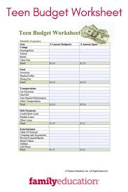 Teaching Budgeting Worksheets How To Make Household Budgetsheet For Office Monthly Living Cost Of