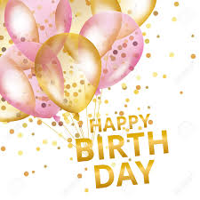 Happy Birthday Background Images Balloons Happy Birthday Gold Pink Balloons Background Happy