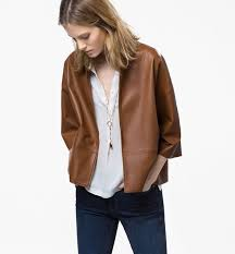 leather jacket massimo dutti 0