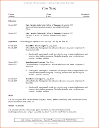 Resume Template For College Student Luxury College Grad Resume