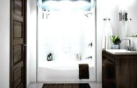 install one piece shower stall enclosures bathroom ideas medium size fiberglass tub surround combo installing a p