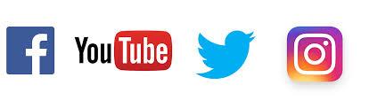 Image result for facebook instagram twitter logo