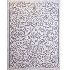 home dynamix ramapo ivory gray microfiber 3 ft x 5 ft indoor