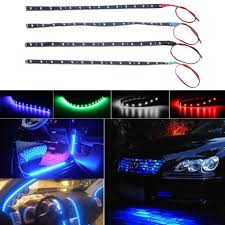 How To Install Flex Led Lights In Car Waterproof 15 Led 30cm Car Styling Super White Blue Red