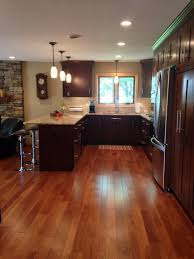 Oak Cabinets Stained Dark Which Stain Red Oak Floor Cherry Cabinets