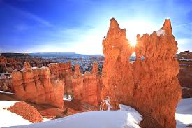 bryce canyon covered in snow bryce canyon utah date unspecified photo courtesy