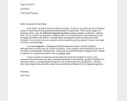 Cover Letter For Software Engineer Internship Position