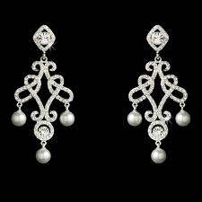 antonia victorian vintage cz pearl chandelier earrings