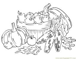 Harvest Coloring Pages Fall Natural World Autumn Free Best Free