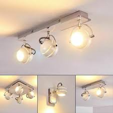 Zimmer Schlaf Wohn Lampe Decken Led Flur Beleuchtung Chrom