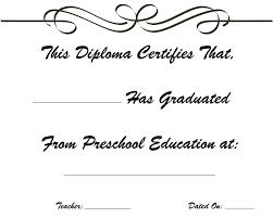Preschool Graduation Kindergarten Graduation Diploma Free Printable