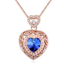 whole crystal heart necklace pendant for women mother s day gifts crystal from swarovski elements rose gold plated 19670 key pendant necklace long