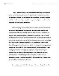 community service essays examples sample community service essay