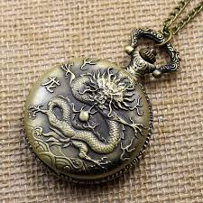 bronze vintage chinese zodiac dragon healthy pocket watch necklace pendant gift p405 automatic watches diamond watches from shukui 23 14 dhgate com
