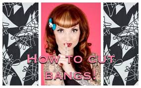 How to Cut Vintage Bangs Betty Bangs Using clippers by CHERRY.