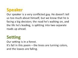 the road not taken poem by robert frost explanation co the road not taken robert frost analysis ppt
