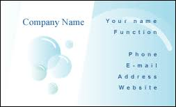 Business Card Cleaning Clipart