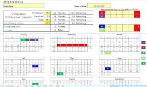 employee time tracking excel off spreadsheet vacation template track